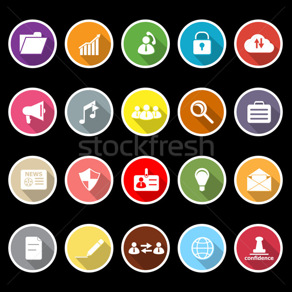 General document icons with long shadow Stock photo © nalinratphi