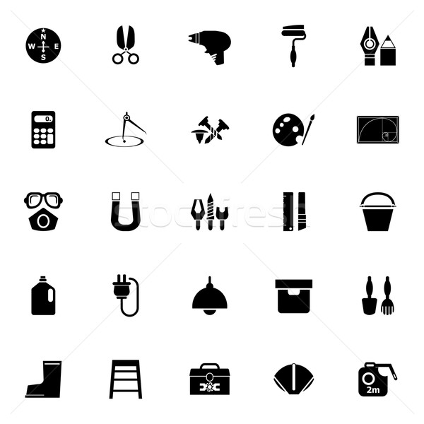 DIY tool icons on white background Stock photo © nalinratphi