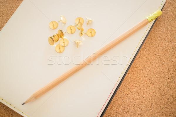 Simples mesa de escritório necessário ferramenta estoque foto Foto stock © nalinratphi