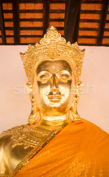 Beautiful buddha image at buddhism temple in Lamphun, Thailand  Stock photo © nalinratphi