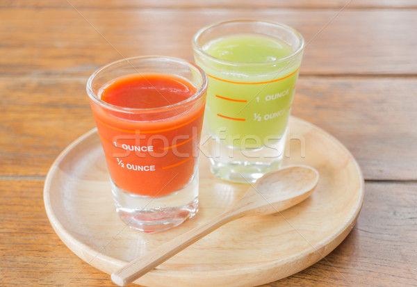 Freshly squeezed juices for diet Stock photo © nalinratphi