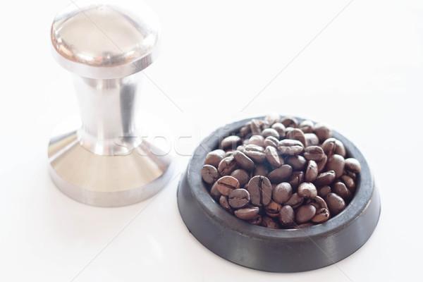 Pörkölt kávé gumi csészealj háttér asztal Stock fotó © nalinratphi