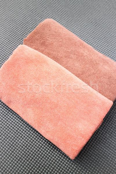 Coppia micro fibra faccia asciugamano stock Foto d'archivio © nalinratphi