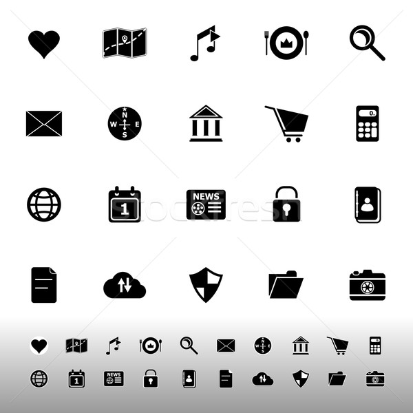 Geral aplicação ícones branco estoque vetor Foto stock © nalinratphi