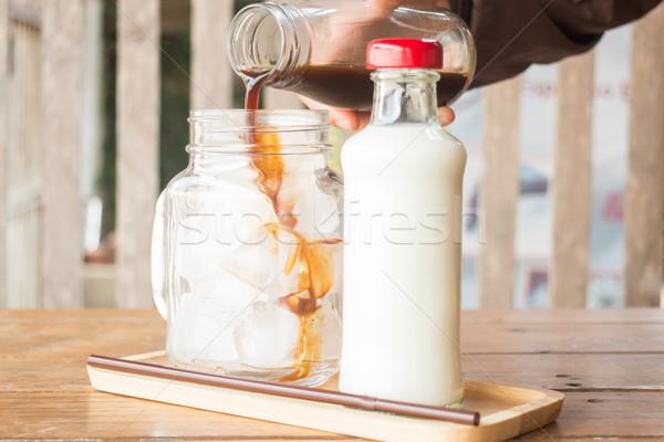 エスプレッソ ガラス コーヒー 在庫 ストックフォト © nalinratphi
