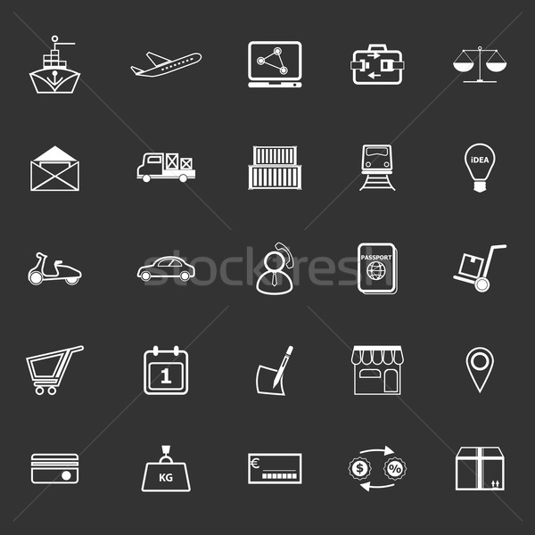 Internationale bedrijfsleven lijn iconen grijs voorraad vector Stockfoto © nalinratphi