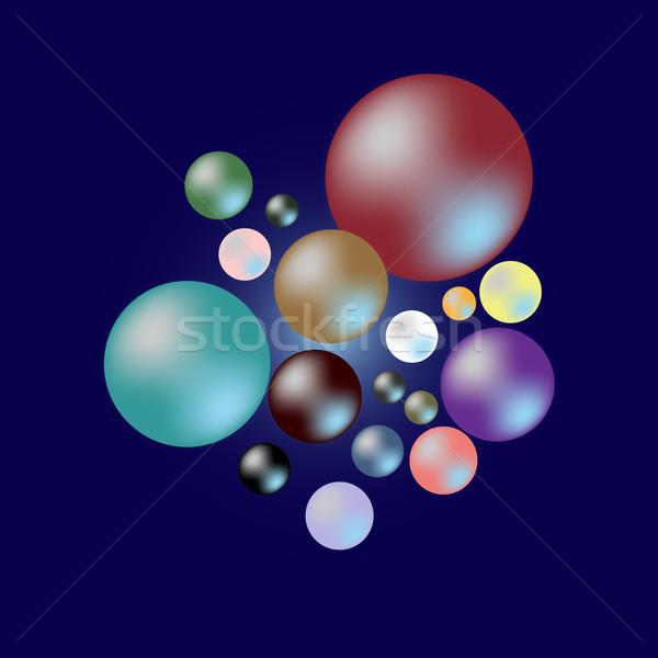 色 真珠 暗い 青 在庫 ストックフォト © nalinratphi