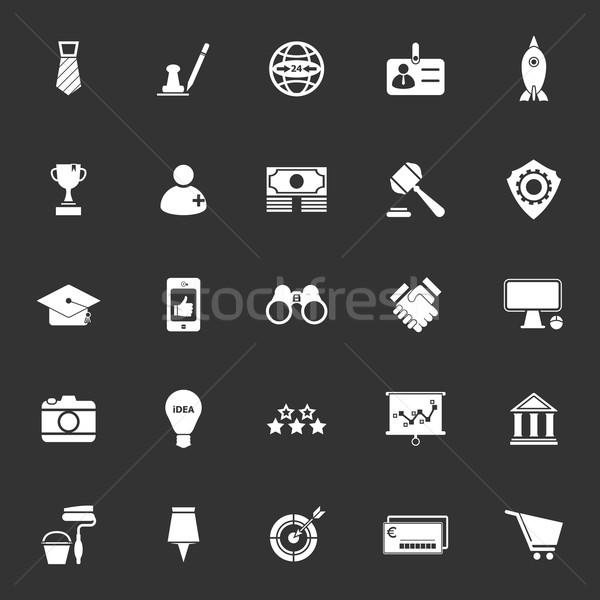 SME icons on gray background Stock photo © nalinratphi