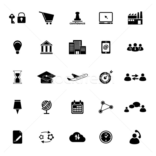 Business connection icons on white background Stock photo © nalinratphi