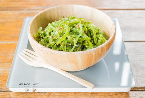 Heerlijk vers zeewier gekruid salade voorraad Stockfoto © nalinratphi