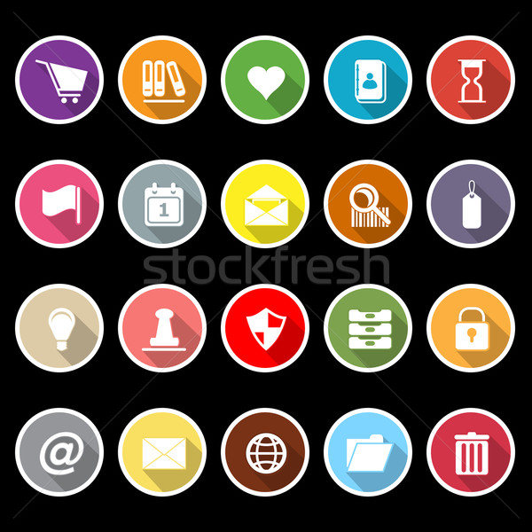 Général dossier icônes longtemps ombre stock Photo stock © nalinratphi