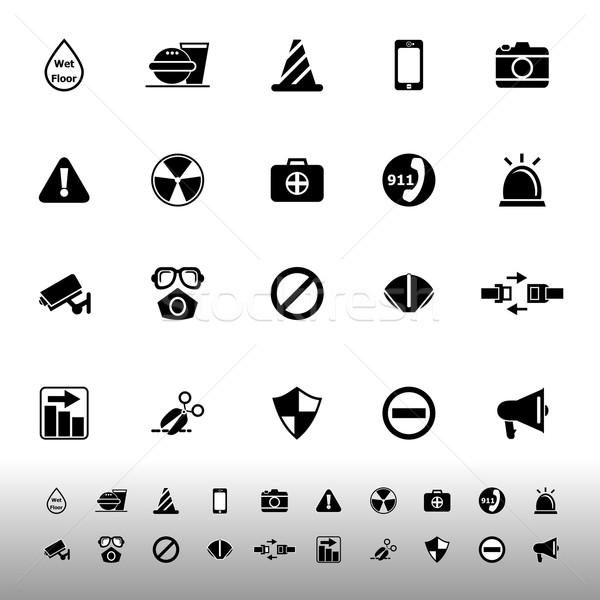 General useful icons on white background Stock photo © nalinratphi