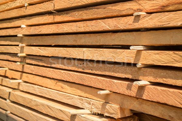 Hout bouw gebouwen voorraad foto boom Stockfoto © nalinratphi