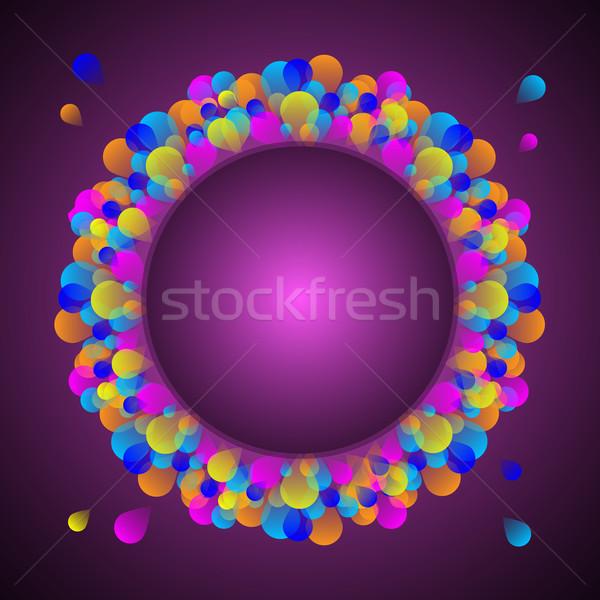 Káprázatos ünneplés kártya színes léggömb stock Stock fotó © nalinratphi