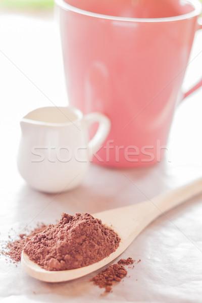 Bevanda calda stock foto cioccolato tavola Foto d'archivio © nalinratphi