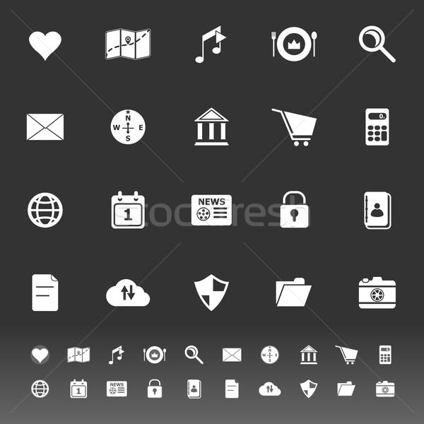 Generale applicazione icone grigio stock vettore Foto d'archivio © nalinratphi