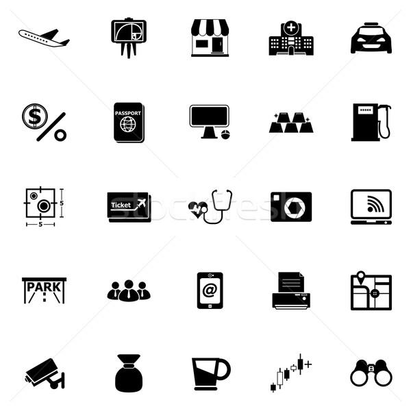 Application icons on white background Stock photo © nalinratphi