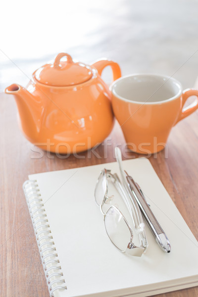 Simple stationary for writing at tea shop Stock photo © nalinratphi