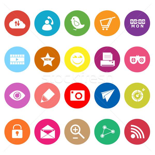 Internet nuttig iconen witte voorraad vector Stockfoto © nalinratphi