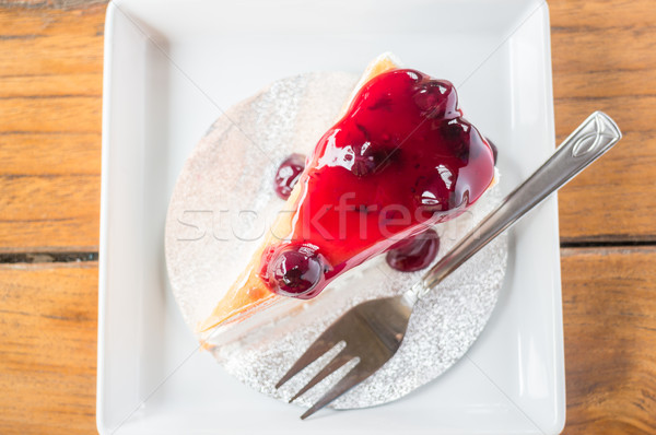 Blueberry crepe cake on top view  Stock photo © nalinratphi