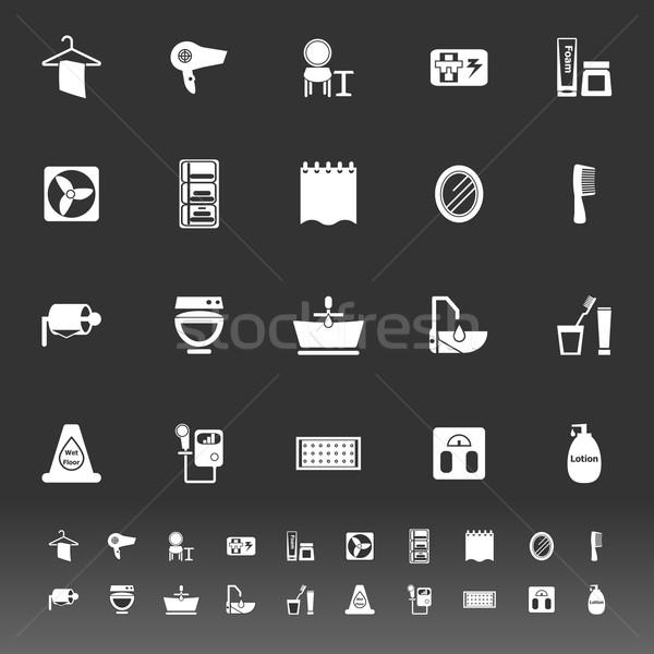 Bano iconos gris stock vector belleza Foto stock © nalinratphi
