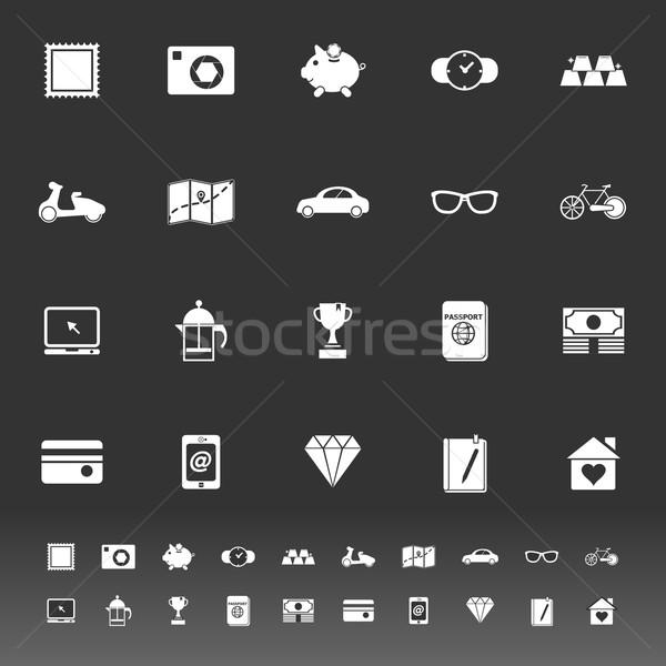 Nuttig collectie iconen grijs voorraad vector Stockfoto © nalinratphi
