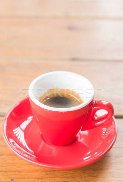 Fresh brewed hot espresso in red cup Stock photo © nalinratphi