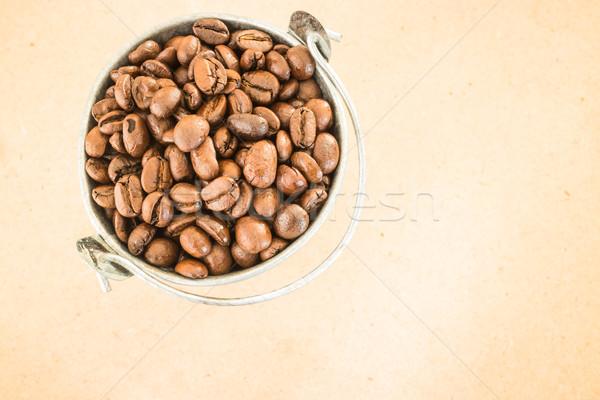 Café frijol cubo stock Foto stock © nalinratphi