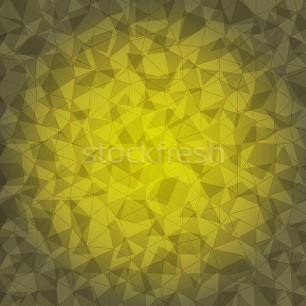 Projeto amarelo triângulo rachar estoque vetor Foto stock © nalinratphi