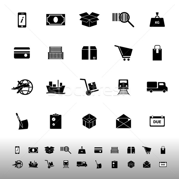 Shipment icons on white background Stock photo © nalinratphi