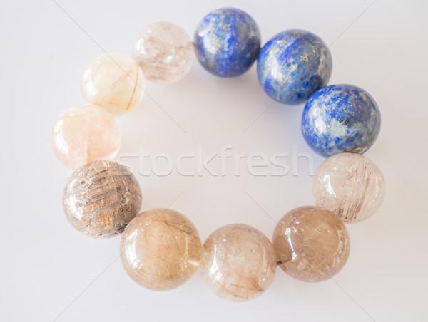 Handmade stone bead created bracelet Stock photo © nalinratphi
