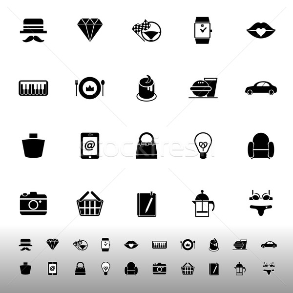 Department store item category icons on white background Stock photo © nalinratphi