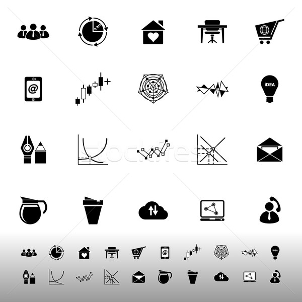 Virtuale organizzazione icone bianco stock vettore Foto d'archivio © nalinratphi