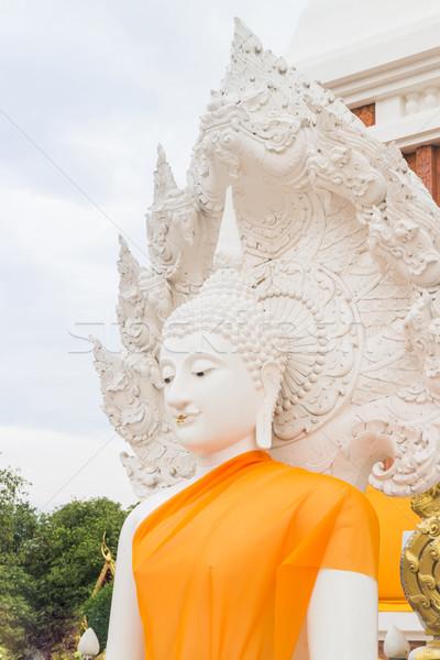 白 仏 ステータス タイ 公共 寺 ストックフォト © nalinratphi