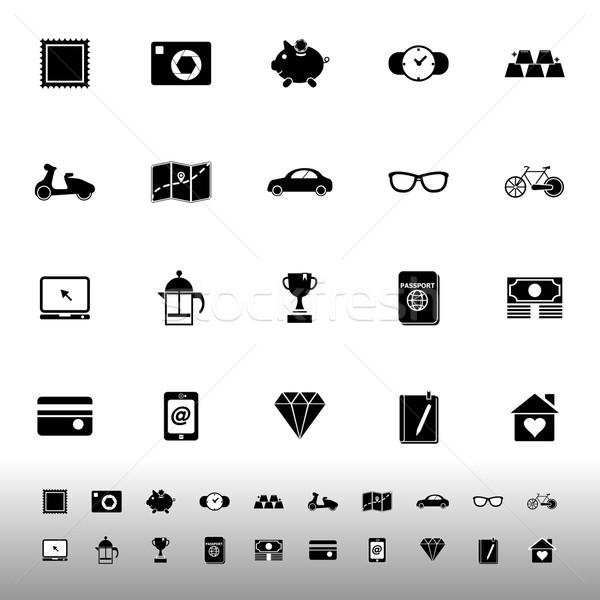 Nuttig collectie iconen witte voorraad vector Stockfoto © nalinratphi