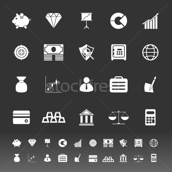 Finance icônes gris stock vecteur banque Photo stock © nalinratphi