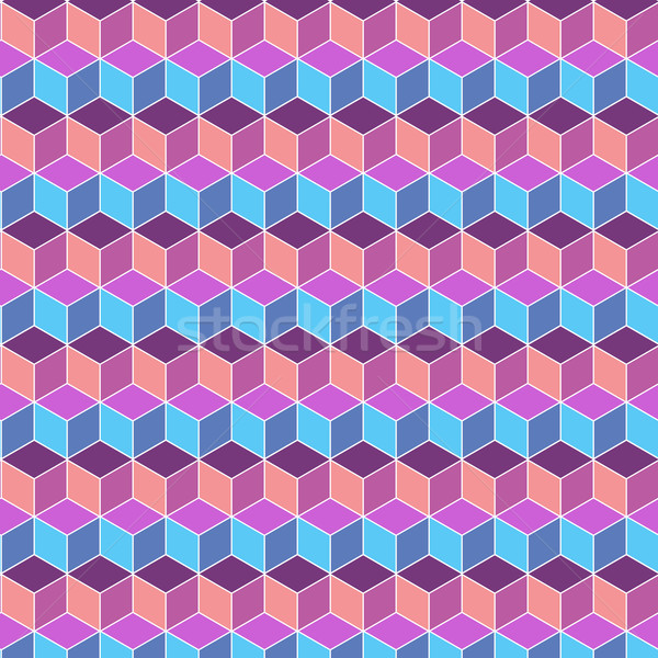 Seamless cube flat color background Stock photo © nalinratphi