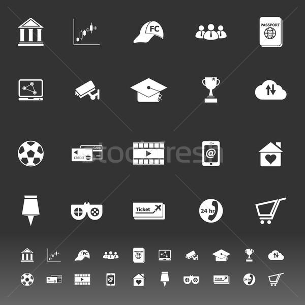 Geral on-line ícones cinza estoque vetor Foto stock © nalinratphi