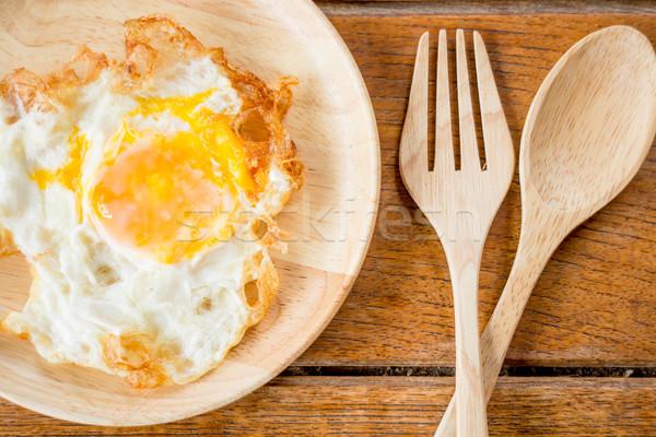 Fácil café da manhã ovo frito estoque foto ovo Foto stock © nalinratphi
