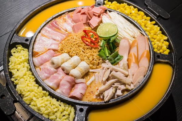 Hot gekruid soep voorraad foto Stockfoto © nalinratphi