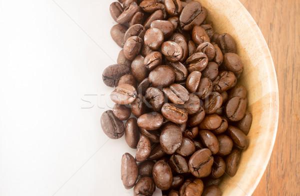 Pörkölt kávébab tál stock fotó kávé Stock fotó © nalinratphi