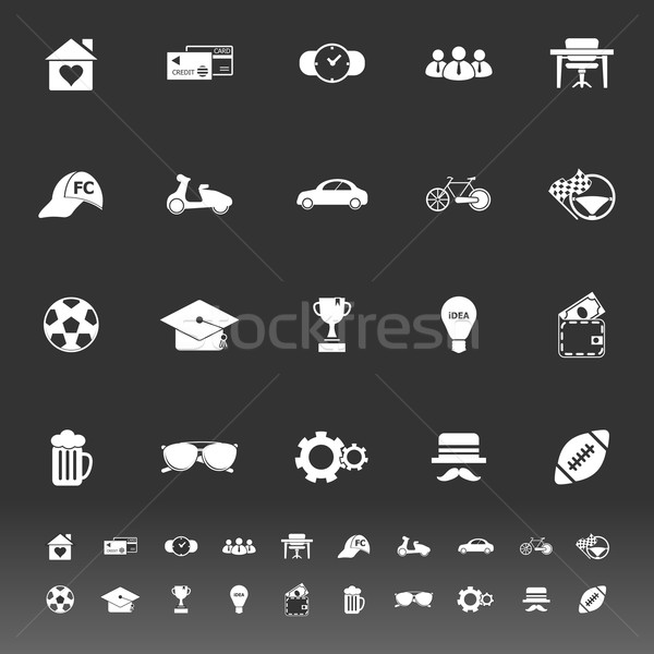 Normal gentleman icons on gray background Stock photo © nalinratphi