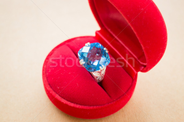 Beautiful gem stone classic jewellery ring Stock photo © nalinratphi
