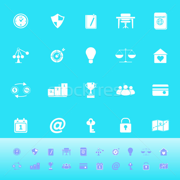 Stock foto: Denken · Farbe · Symbole · hellblau · hat · Vektor