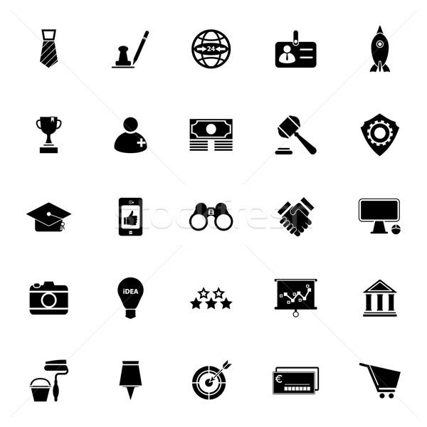 SME icons on white background Stock photo © nalinratphi