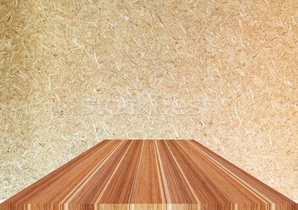 Donkere bruin houten top haan hout Stockfoto © nalinratphi