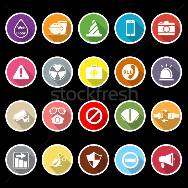 General useful icons with long shadow Stock photo © nalinratphi