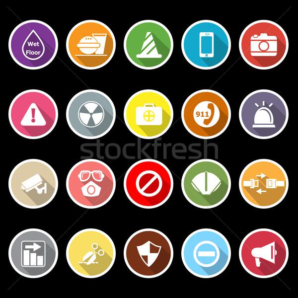 Général utile icônes longtemps ombre stock Photo stock © nalinratphi