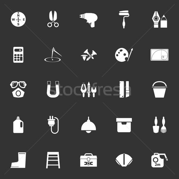инструментом иконки серый складе вектора Сток-фото © nalinratphi
