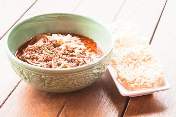 Tradizionale piccante croccante riso ristorante Foto d'archivio © nalinratphi
